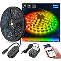 MINGER DreamColor LED Strip Lights Built-in IC with APP,...