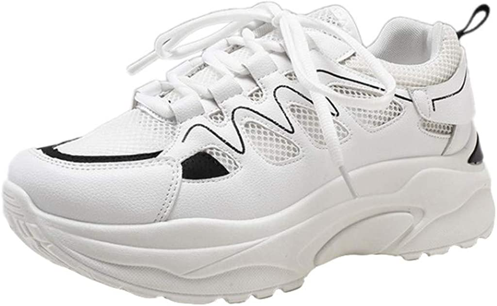 Kaister Fashion - Zapatillas Deportivas para Mujer con Cordones de Color Neutro, Negro (Negro), 36 EU: Amazon.es: Zapatos y complementos