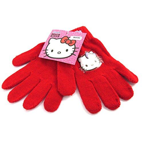 Gloves children 'Hello Kitty' red. ()
