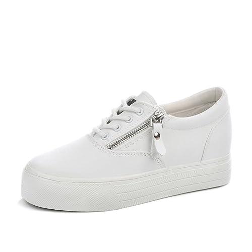 Moda de zapatos de suela gruesa plataforma/Zapatos de moda/Zapatos blancos-A Longitud del pie=22.8CM(9Inch) Pw2r44pf