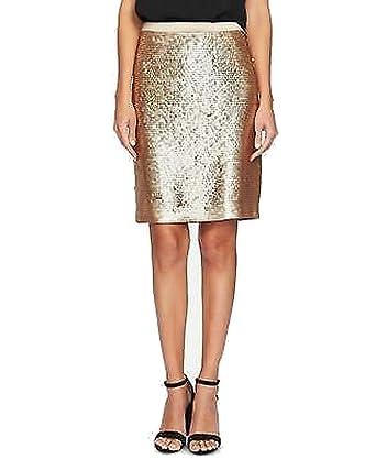 CeCe Mini Falda con Lentejuelas para Mujer - Dorado - 40: Amazon ...