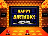 lego guns life size - Custom Home Decor Classic Video Arcade Game Happy Birthday Poster - Size 36x24, 48x24, 48x36; Personalized Background Dash Board Game Birthday Banner Wall Décor; Handmade Party Supply Poster Print
