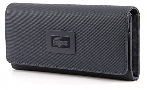LACOSTE Women's Classic All In One Wallet Black Iris