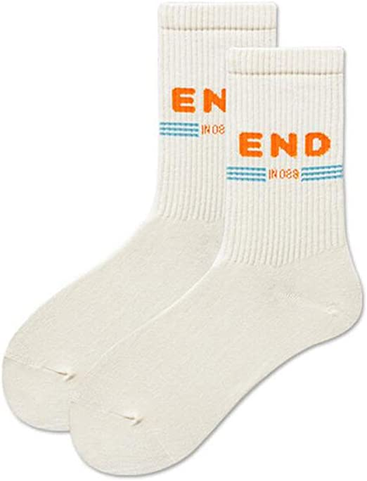 ZXQY Europa y los Estados Unidos Calcetines de algodón Calcetines ...