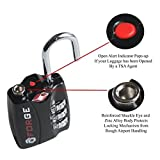 NEW Forge TSA Open Alert Combination Luggage Locks for Travel - 3 Colors - Lock Safe Protection-securte Suite Case-Duffle Bag-Gym Bag-backpackluggage lock