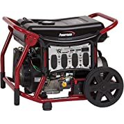 Powermate Portable Generator, 120/240v, 10000w, Electric/Recoil Start