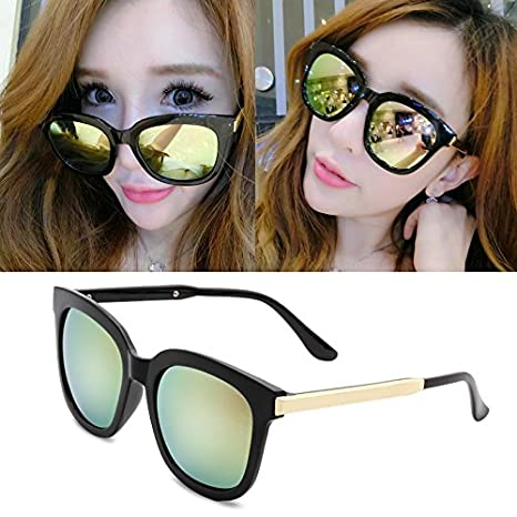 37562bd87d eyeglasses round frame metal green Source · Amazon com GMYANTYJ Sunglasses  Sunglasses women s tide glasses new