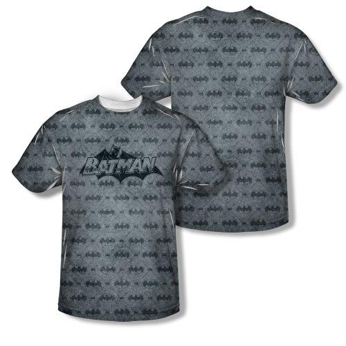 Argyle Print Tee (Trevco Men's Batman Double Sided Print Sublimated T-Shirt, Argyle White, XX-Large)