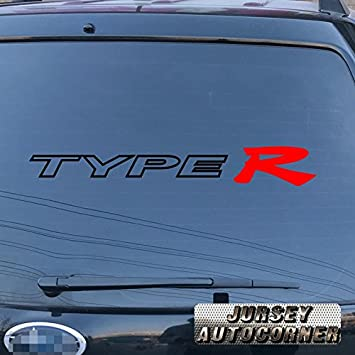 Type r car decal sticker vinyl fit for honda acura die cut no background pick color