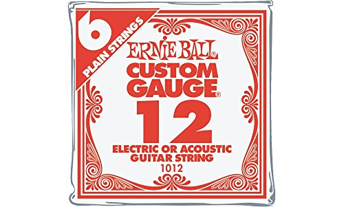 Ernie Ball Nickel Plain Single Guitar String .012 6-Pack