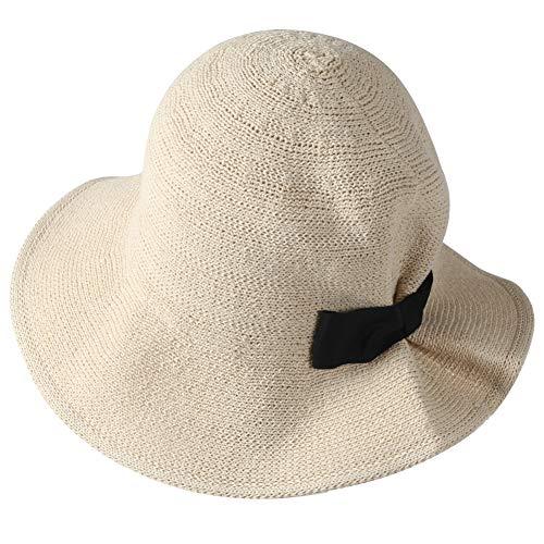 EMWM Women's Sun Hat, Floppy Adjustable Drawstring UV Beach Sun Straw Hat - http://coolthings.us