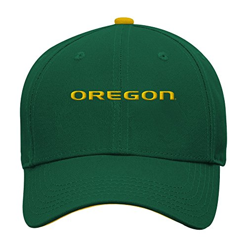 NCAA by Outerstuff NCAA Oregon Ducks Kids & Youth Boys Basic Structured Adjustable Hat, Dark Green, Youth One Size
