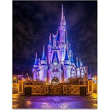 Amazon Com 8x10 P02 Disney Castle Poster Inspired