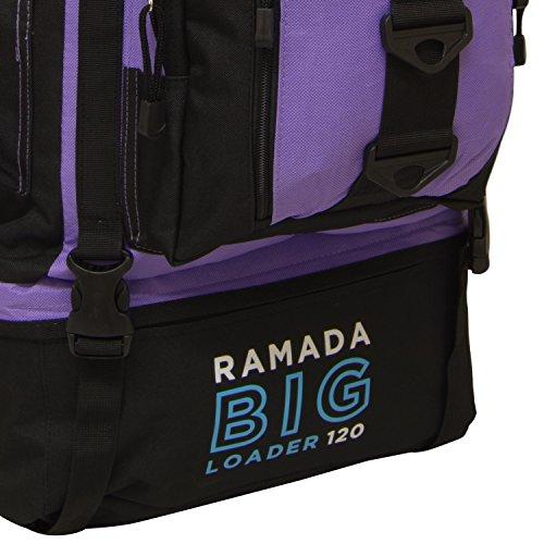 Lilac Ramada Camping Hiking Bag Backpack Luggage Extra Rucksack 120L Andes Large PTBwRwq