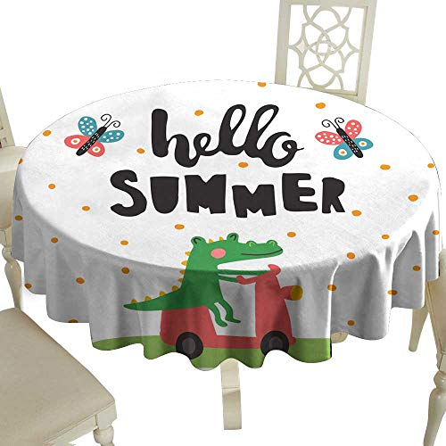 Croco Overlay - WinfreyDecor Dustproof Tablecloth Summer Croco Great for Buffet Table D71