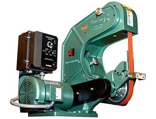 Burr King 71303 Model 760 Three Wheel Belt Grinder, 1.5 hp, 220V, 3 Phase, 702 60 Hz, 4000 SFPM, MAG 3, 1.5