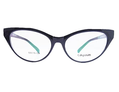 079df7b86c Agstum Ladies Womens Cat eye Glasses Frame Optical TR90 Eyeglasses (Black)