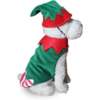 POPETPOP Pet Christmas Costumes Dog Suit Christmas Clown Clothes Dog Hoodies Apparel Cat Kitten Xmas Costumes Accessory Size S