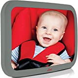 infant auto mirror - Baby Backseat Mirror For Car - Largest and Most Stable Mirror with Premium Matte Finish - Crystal Clear View of Infant in Rear Facing Car Seat - Safe, Secure and Shatterproof