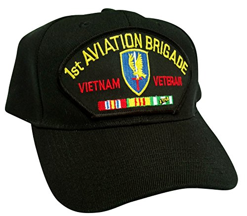 (HMC US Army 1st Aviation Brigade Vietnam Veteran w/Service Ribbons Low Profile Adjustable Ball Cap)