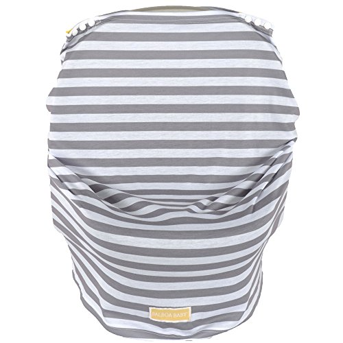 Balboa Baby Multi-Use Car Seat Canopy Cover - Grey & White Cabana Stripe