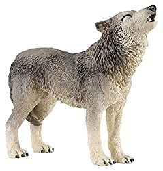 Papo Howling Wolf Figure, Multicolor
