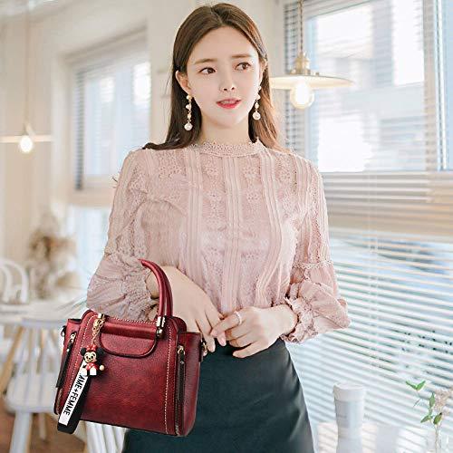 Tracolla Marea Messenger Portatile Coreana Da Moda Borse Black Donna Femminile Borsa Delle Grande Versione Sacchetto A Selvaggio wSXnEg