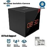 LIZVIE HD Wireless Spy Clock Camera- Auto Night Vision Camera,Motion detection Invisible Cam,Home Security Monitor Alarm Clock Camera with Speaker (Basic Model)
