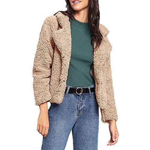 Fox Black Microfiber Jacket - Womens Faux Fur Notched Collar Plush Coat Outwear Autumn Winter Short Cardigan