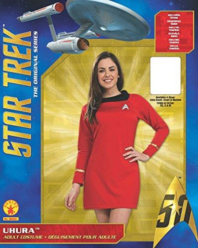 Désirs Secrets Star Trek Classique Xs Adultes Luxe Robe Rouge