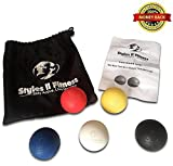 Styles II Fitness Lacrosse Massage Balls – Relieve Any Ache Or Pain – Improve Workouts And Joint Mobility - For Men and Women (set of 5) With Carrying Bag and User Guide