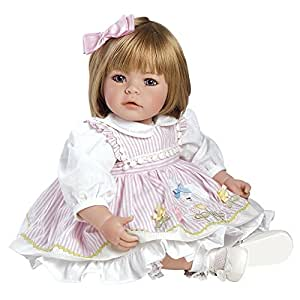 """Adora Toddler Pin-A-Four Seasons 20"""" Girl Weighted Doll Gift Set for Children 6+ Huggable Vinyl Cuddly Snuggle Soft Body Toy"""