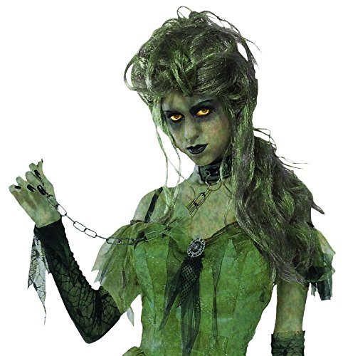 Forum Novelties 65981 Green Zombie Lady Wig One Size Fits Most, As -