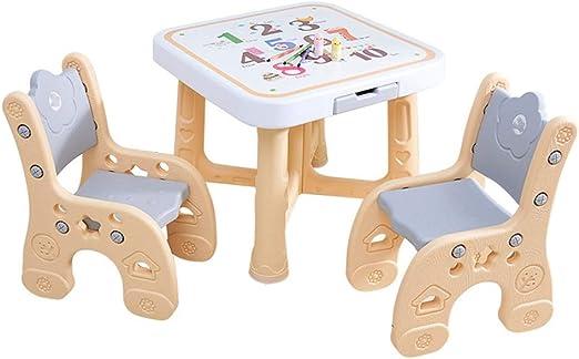 Gububi Trona Mesa de plástico para niños y Silla de bebé Altura de ...