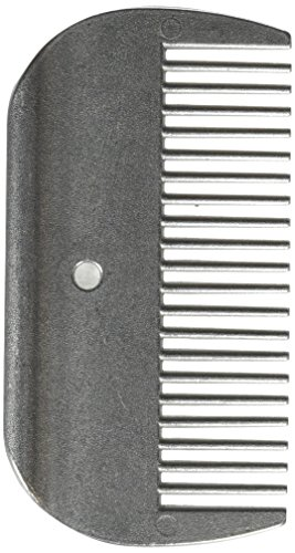 - Partrade 077271 Mane Comb for Horses Silver, 4inch