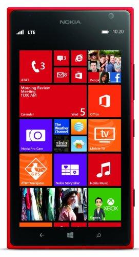 New Nokia Camera Cell Phone (Nokia Lumia 1520 RM-940 16GB GSM + AT&T 4G LTE Quad-Core Windows Phone w/ 20MP Camera - Red (No)