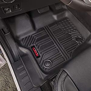 Gator Accessories 79605 Black Front and 2nd Seat Floor Liners Fits 2014-20 Toyota Tundra CrewMax Cab, Combo Set