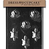 Dress My Cupcake DMCA111SET Chocolate Candy Mold, Frogs/Turtles, Set of 6