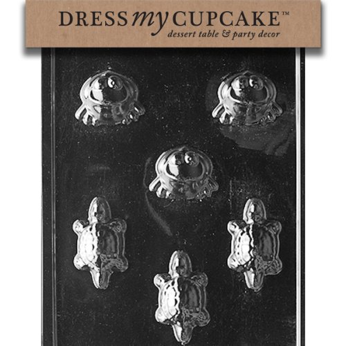 Dress My Cupcake DMCA111 Chocolate Candy Mold, Frogs/Turtles