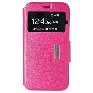 Funda Motorola Moto x Play -Muchasfundas- con tapa (tipo libro) de piel sintética (PU) rosa