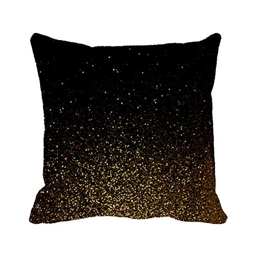 Julyou Sparkle Lacquer Black Gold Fall Outdoor/Indoor Throw Pillow Covers 20 x 20in