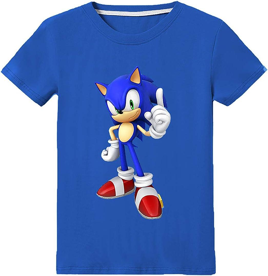 Silver Basic Camiseta de Sonic The Hedgehog para Niños y Niñas ...