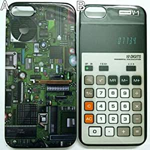 PC Main Mother Board Calculator Unique Pattern Anti-slip Plastic Protect Case Shell Cover for iPhone 5/5s - 2 Style