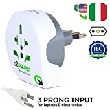 Best Travel Charger For Uses - World to Italy Travel Adapter by Q2Power | Review