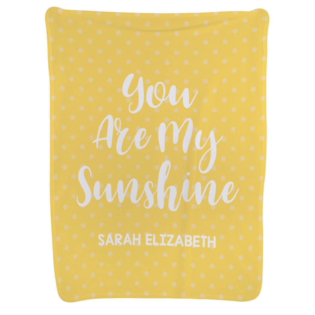 Personalized Baby & Infant Blanket | You are My Sunshine with Custom Name