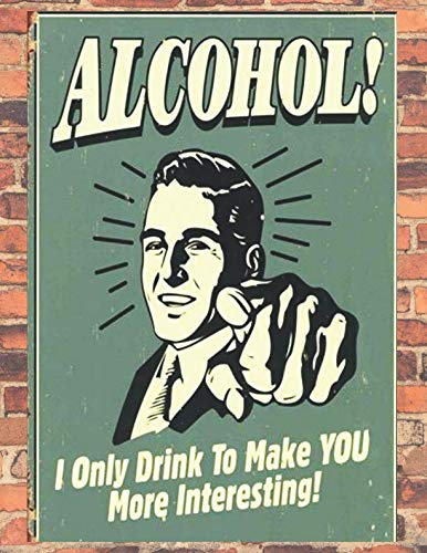 Alcohol: 100% Alcohol Retro Poster, It's an English pub Notebook (Diary, Journal), Large Vintage Notebook / 8,5'' x 11'', A4,  150 Lined pages, (Retro Journal) (Irish Drinking Poster)