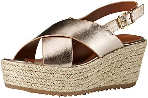 375bd36526d Naturalizer Women's Oak Espadrille Wedge Sandal Light Bronze 10.5 M ...
