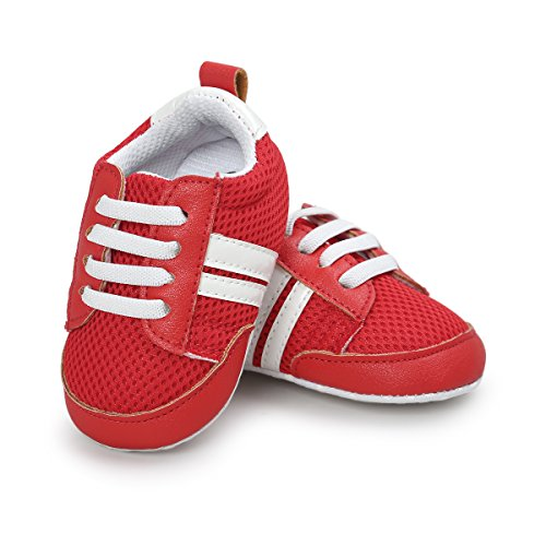 Save Beautiful Air Mesh Baby Shoes - Infant Boys Girls Summer Net Sneakers Crib Shoes (5.12inches(12-18months), style(A) red) ()