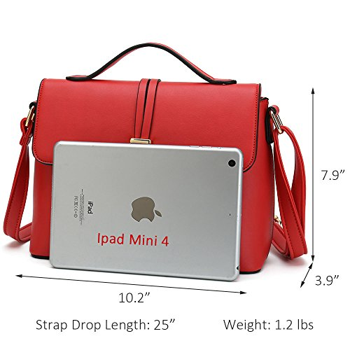 Bag Handbag For Fashion Women Shoulder Body Stylish Purses Designer Ladies Red Cross qnx0xBv