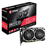 MSI Gaming Radeon RX 5500 XT Boost Clock: 1845 MHz 128-bit 8GB GDDR6 DP/HDMI Dual Torx 3.0 Fans Crossfire Freesync VR Ready Graphics Card (RX 5500 XT MECH 8G OC)